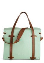 I might have to buy this bag. Camp Director Tote in Mint | Mod Retro Vintage Bags | ModCloth.com