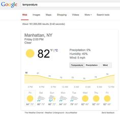 How to check the weather using Google Search
