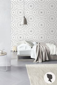 Geometric Flower Pattern Self Adhesive  Wallpaper - Z011 - http://centophobe.com/geometric-flower-pattern-self-adhesive-wallpaper-z011/ -