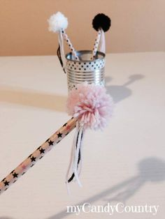 Come decorare delle matite con il washi tape e pom pom. Idea creativa ...