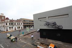 By DALeast - In Johannesburg, South Africa - Street Art Utopia Urban Street Art, Best Street Art, Urban Art, Street Art Utopia, Space Artwork, Urban Painting, Art Challenge, Banksy, Get Outside