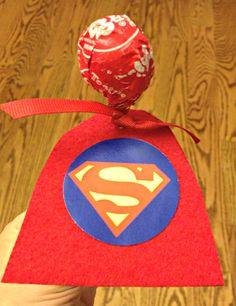 Super Hero Valentine's Suckers