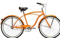 Orange beach cruiser bike