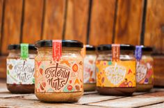 Sisterly Nuts on Packaging of the World - Creative Package Design Gallery Spices Packaging, Honey Packaging, Fruit Packaging, Chocolate Packaging, Bottle Packaging, Coffee Packaging, Food Branding, Food Packaging Design, Packaging Design Inspiration