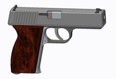 Pistol 380ACP - STL,STEP / IGES - 3D CAD model - GrabCAD