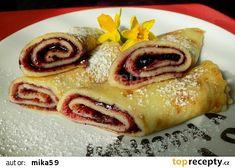 Palačinky ze zakysané smetany recept - TopRecepty.cz Breakfast Cake, Pancakes, French Toast, Food And Drink, Sweets, Lunch, Ethnic Recipes, Gummi Candy, Candy