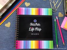 Bridge your two passions together.  The Teacher Life Map is here to help you organize and simplify your home-life and school-life, allowing you more time do what makes your heart happy.  This Personal Planner has been designed specifically for a teacher, by a teacher.