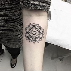 tattoo, mandala, and hearts image