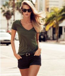 V-neck Top - casual summer look.