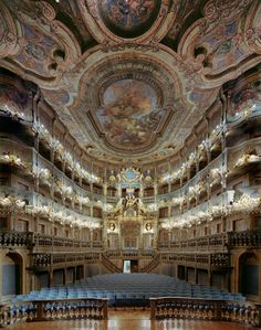Oh to perform in this Opera House... One can always dream!  Margravial Opera House, Bayreuth Germany