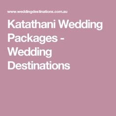 Planning A Wedding Package Is Easy With The Weddings Destination Group Our Katathani Packages Take Stress Out Of It All Enquire Now