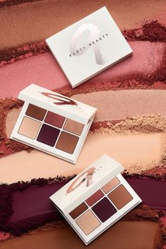 "Fenty Beauty's new Snap Shadows in 9 ""Wine"" take your fall eyeshadow game to another level in super rich, easy to blend, neutral eyeshadow shades inspired by your favorite wine parings! Get this palette at wine o'clock on August 13 at fentybeauty.com"