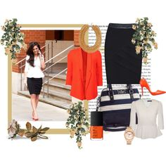 """""""Monochrome office chic"""" by jeetly on Polyvore"""