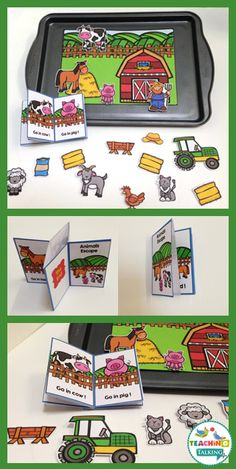 Try these cute farm theme Apraxia activities for kids! This interactive game includes a story board, drill sheet, and character cutouts so your students learn while they play in speech therapy. Cookie Sheet Activities, Speech Therapy Activities, Language Activities, Activities For Kids, Articulation Activities, Play Therapy, Therapy Ideas, Shape Activities, Learning Activities