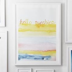 Hello Sunshine Wall Art by Minted® Inspire your space with art like this unique piece, entitled Hello Sunshine by Sonal Nathwani. We've partnered with Minted to bring independent design to you. Minted crowdsources artwork from a global community of artists, the public votes and we select winners exclusively for PBteen. By supporting this collection, you're helping independent artists across the world.