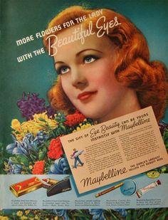 1938 Vintage Maybelline Cosmetics Ad