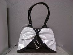 Lady Lux Kiss Lock Blk/White Sparkle Leather Backpack, Fashion Backpack, Bucket Bag, Kiss, Sparkle, Fashion Outfits, Lady, Clothing, Accessories