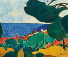 André Derain (français, 1880-1954), Vue de Cassis, 1907, huile sur toile, 54 x 65,1 cm.