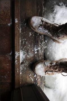 Snowy doorstep, exhilarating walk