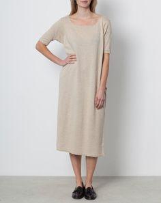 Lauren Manoogian Tall T Dress in Natural