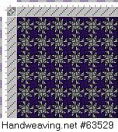 Drawdown Image: Figurierte Muster Pl. XIX Nr. 15, Die färbige Gewebemusterung, Franz Donat, 6S, 6T