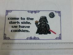 """meu primeiro trabalho """"grande"""". Gostei muito do resultado  """"come to the dark side, we have cookies"""""""