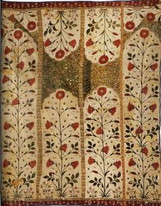 Image result for mordant dyeing textile V&A - 18th century mordant dyed tent panel