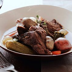 Pot Roast with Baby Vegetables By Tyler Florence