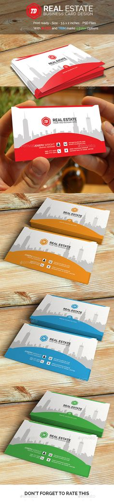Real Estate - Business Card Template #design Buy and Download: http://graphicriver.net/item/real-estate-business-card-template/12822927?ref=ksioks
