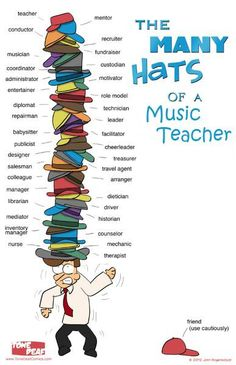 """This poster says it all. Choir directors do a lot! Get this 11"""" x 17"""" poster for your office today. Available in Band, Choir, and Orchestra versions, as well."""