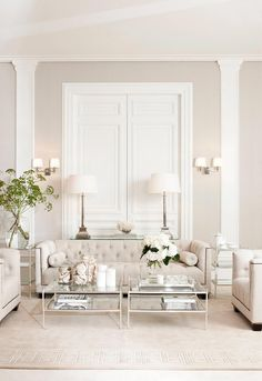 Romantic, Light and Luxurious Style #livingrooms#livingroomdesigns #elegant
