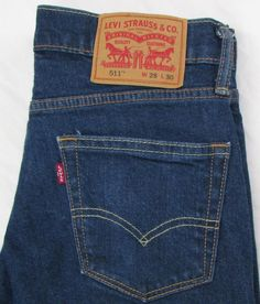 Jeans Intelligent 38x32 Levi Strauss 559 Relaxed Straight Fit Blue Jeans 100% Cotton Red Tab Denim Terrific Value