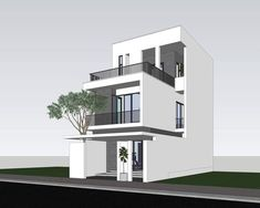 Apartment Exterior Design Townhouse Beautiful Ideas For 2019 Townhouse Exterior, Modern Townhouse, Townhouse Designs, Bungalow Exterior, Cottage Exterior, House Front Design, Modern House Design, Exterior Design, Stucco Exterior