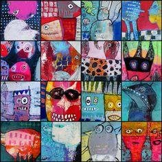 Collage of my ATC's Elke Trittel