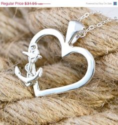 Summer Sale Anchor Necklace  Anchor by TheJewelryGirlsPlace