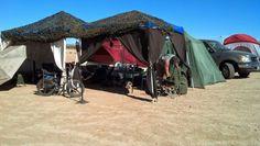 Camp all set up at Wasteland Weekend 2013.