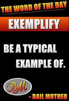 Exemplify