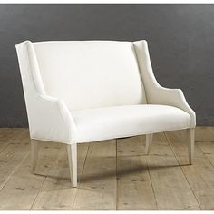 Ballard Designs Blair Bench Item: UB055 | http://www.ballarddesigns.com/blair-bench/264700 	 			 	 	 Overview 	 Specifications 	 Supply Your Own Fabric 	   With its high back and graceful winged arms, our Bl...