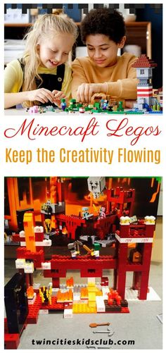Twin Cities Kids Club Blogs: Minecraft Legos: Keep the Creativity Flowing - Let's say your daughter, son, niece, or nephew really loves Minecraft, the computer game. And secretly you're a little grateful that she's playing it right now. Minecraft is giving you a needed summer break. | Creativity | Kids Creativity | Minecraft | Computer Game | Creative Kids | Kids Game | Creation | Minecraft Legos Indoor Games, Indoor Activities, Infant Activities, Educational Activities, Minecraft Computer Game, Kids And Parenting, Parenting Hacks, Activities For 2 Year Olds, Learning Through Play