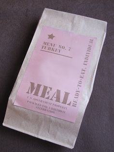 ARMY Party MRE Printables