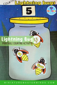 Counting Lightning Bugs Free Printable Preschool Math Activity I'm never sure…