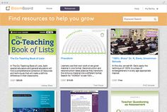 BloomBoard -  personalized professional development  Access a marketplace of personalized resources from the top education content providers, or from your organization's resource library