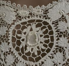 Irish crochet lace coat or dress, c.1920s