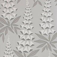 MissPrint Misty Foxglove Wallpaper - - MissPrint from eggcup & blanket UK Number Wallpaper, Metallic Wallpaper, Kitchen Wallpaper, Grey Wallpaper, Modern Floral Wallpaper, Powder Room Wallpaper, Wallpaper Online, Self Adhesive Wallpaper, Textile Prints