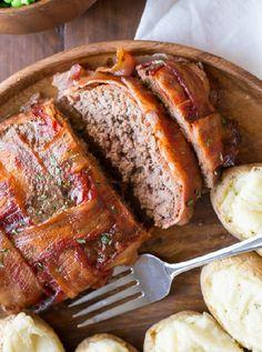 Low FODMAP & Gluten free Recipe - Beef & bacon meatloaf