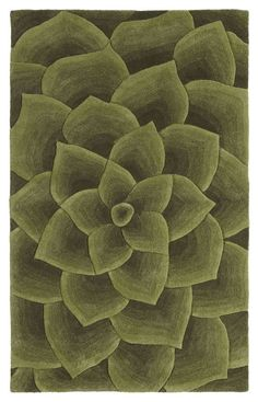 $5 Off when you share! Cenon Floral Transitions Green Rug | Contemporary Rugs #RugsUSA