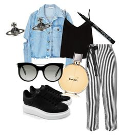 Untitled #18 by huetpaula on Polyvore featuring polyvore fashion style Raey J.Crew Alexander McQueen Vivienne Westwood Chanel clothing  #lookbook #outfit