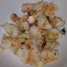 HCG Diet grille shrimp with green onion and garlic