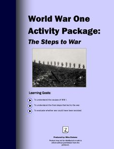 An engaging activities package that covers all the events leading to the start of WW I.  Interactive maps, informative ppts. and Q and A's will give your students an excellent understanding of what caused the war.