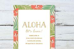 Summer Aloha Invite by Pixejoo on @creativework247